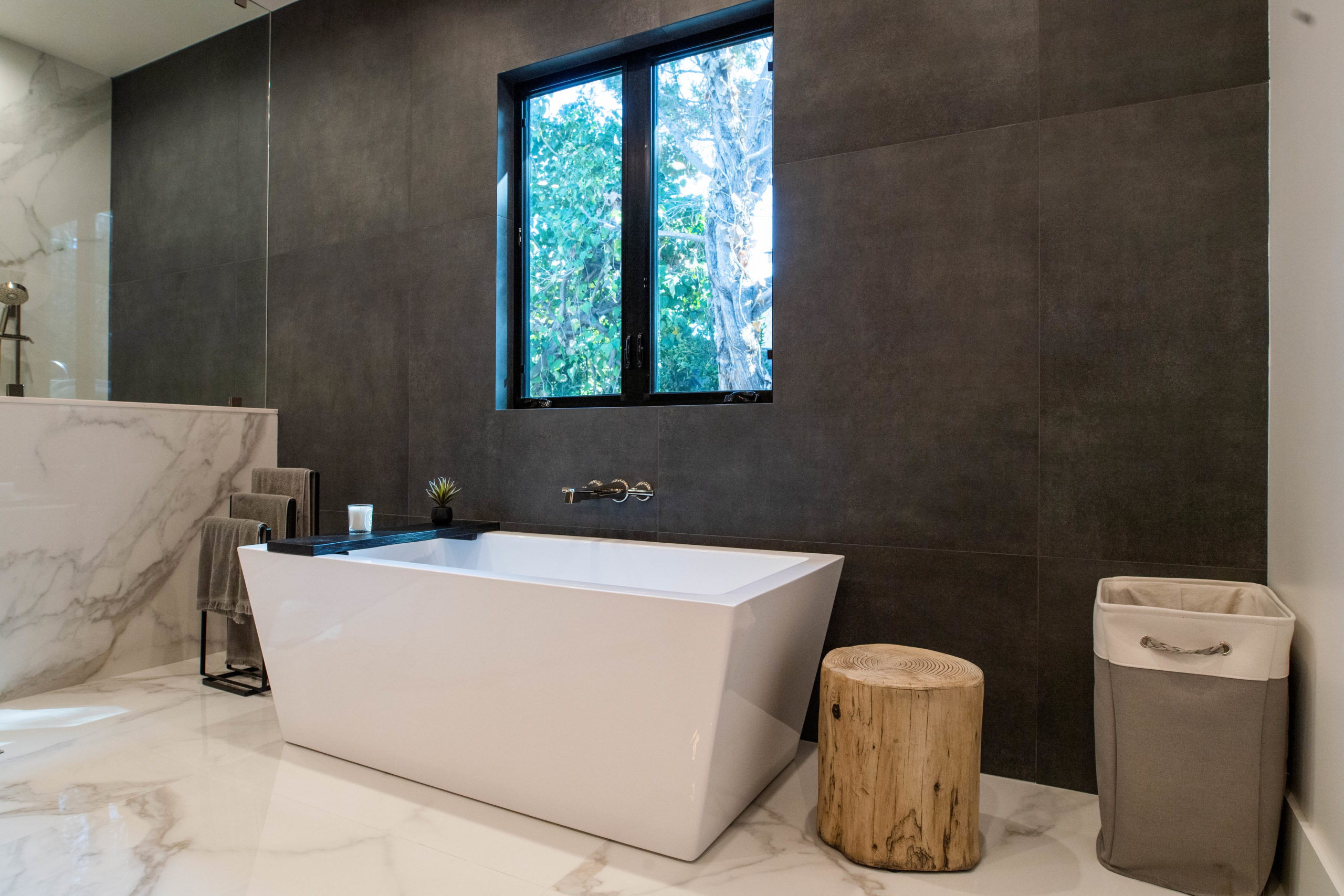 A home after a bathroom remodeling project.